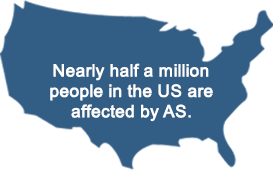 Nearly half a million people in the US are affected by AS